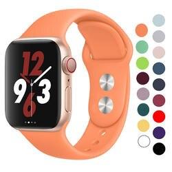 Силиконовый ремешок для Apple Watch 42mm 38 мм 44 мм 40 мм резиновый браслет Ремешки черные ремни Iwatch серии 4/3/2/1 браслет