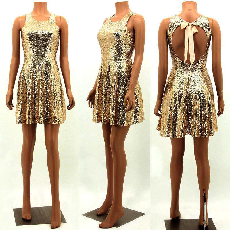 summer 2017 sexy party gold sequin dress vestidos woman glitter dress sequin dress backless dress jurken short womens clothing 2