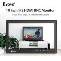 Eyoyo 10 inch 1366x768 HDMI portable usb monitor BNC IPS LCD Video Display AV Input Remote Control CCTV Camera Screen