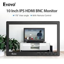 Eyoyo 10 inch 1366x768 HDMI portable usb monitor BNC IPS LCD Video Display AV Input Remote Control CCTV Camera Screen