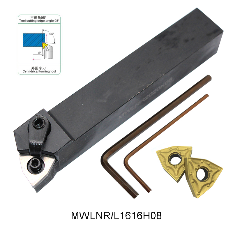 MWLNR1616H08 MWLNL1616H08 MWLNR2020K08 MWLNL2020K08 Extermal Turning Tool Holder For WNMG080404 WNMG 080404