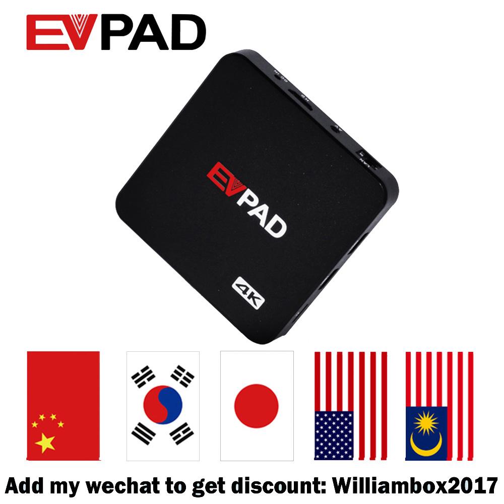 Prix pour EVPAD IPTV HD Android TV Box Avec 1000 + Livraison Chaîne En Direct Asiatique Malaisie Chinois Coréen Japonais Livraison Gratuite avec Airmouse