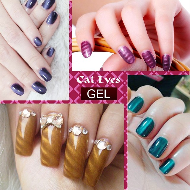 KCE Brand UV glue Nail Polish Manicure LED Cats Eye 36 Color 10 ml Healthy cat eye nail And Green Plastic paint Made In China