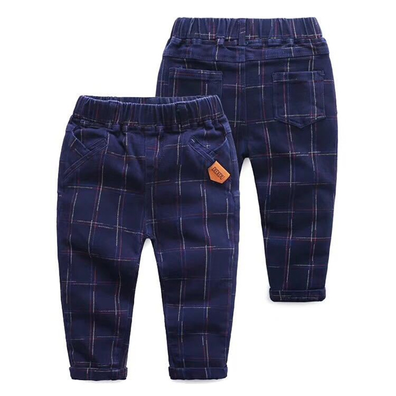 2018 Boys Plaid Pants Kids Spring Autumn Fashion Cotton Long Pencil Pants Children Clothing Baby Boys Cotton Trousers 2018 spring girls and boys fashion loose straight elastic waist plaid cotton pants kids children casual wholesale long trousers page 1