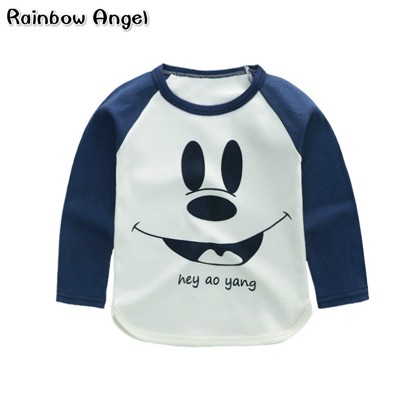 Summer Baby Boys Clothes Boys Girls Cartoon T Shirts Long Sleeve Cotton T Shirts Children Printed Tops Tees Kids Clothing 18M-5T 2017 new summer short sleeve coll boys t shirt baby character cool new kids t shirts boys clothes cotton children clothing ss066