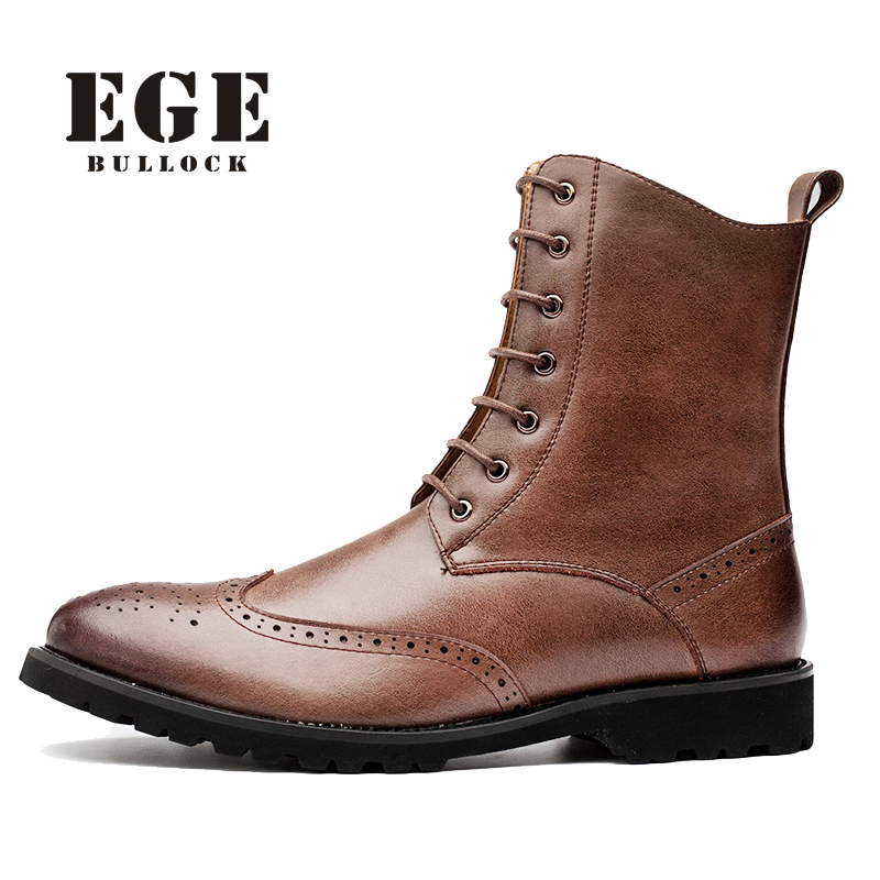 Brand Men Boots Fashion Hot Bullock Shoes Handmade Warm Genuine Leather Winter Boots Men Casual British Style Ankle Snow Boots brand men boots fashion hot bullock shoes handmade warm genuine leather winter boots men casual british style ankle snow boots