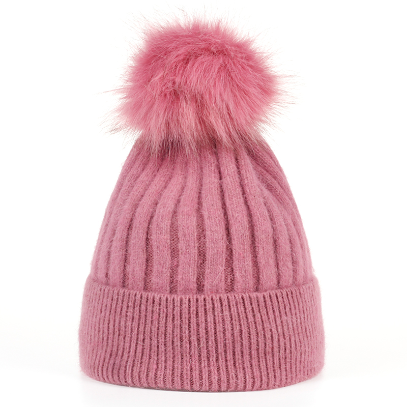 VORON Arrival Women Fashion Casual Warm Winter Hat Female Quality Knitting Rabbit Hair Beanie Caps 2017 New wuhaobo the new arrival of the cashmere knitting wool ladies hat winter warm fashion cap silver flower diamond women caps