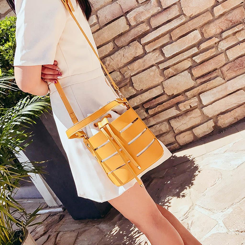 Women's Hollow Shoulder Bag Multi-Function Bag Multi-Layer Handbag Crossbody Bags For Women Leather Handbags