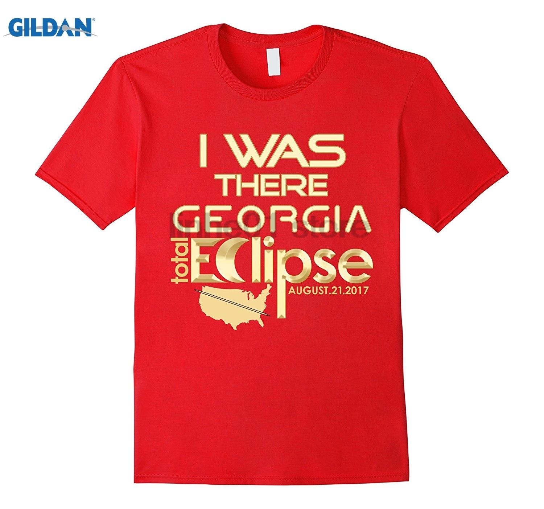 GILDAN Georgia Solar Eclipse TShirt I Was There August 21 2017 dress T-shirt Womens T-shirt