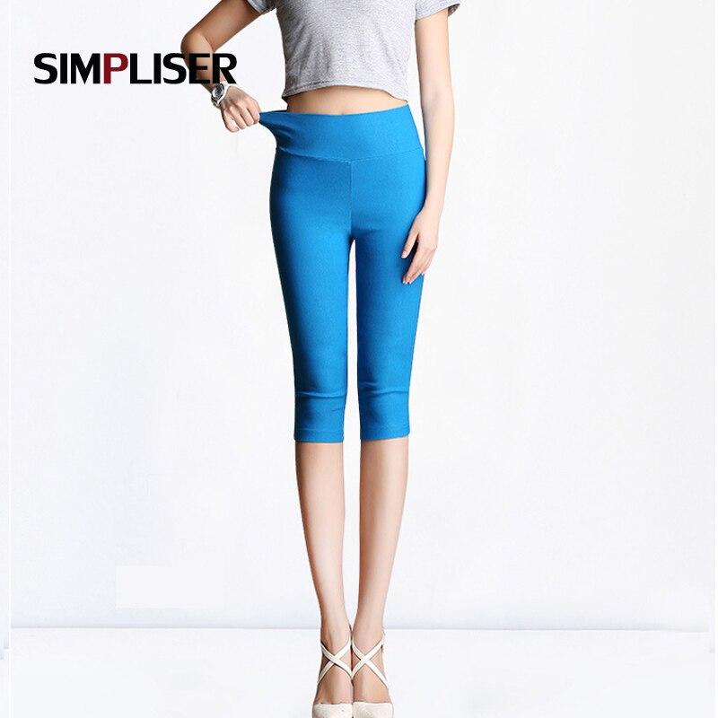 SIMPLISER Candy Color Women Pencil Pants Calf Length Capris Female Trousers Red White Femme Pantalon Large Size 5XL 6XL Leggings