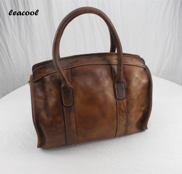 2bc99dee31 Women Casual Tote Genuine Leather Handbag Bag Fashion Vintage Large  Shopping Bag Designer Crossbody Bags Big