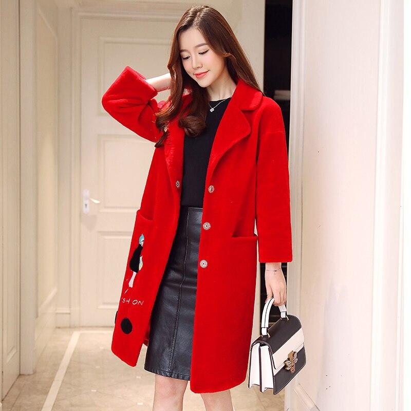 taro Femme rose Fourrure D'hiver La Manteaux noir Mouton Veste De Des Vraie Color Femmes Laine Vestes Beige Manteau rouge gq8xpH56