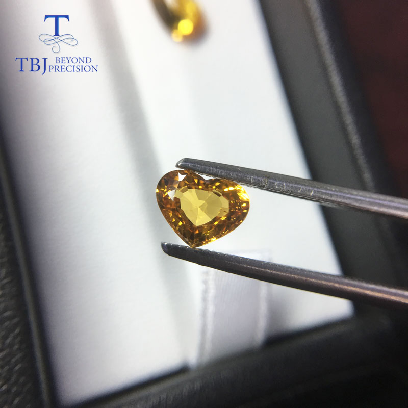 Image 4 - Tbj ,natural heated yellow sapphire 1ct up good quality slight inclusion gemstone for diy gold jewelry-in Rings from Jewelry & Accessories