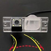 Интеллигентая(ый) Динамическая траектория движения заднего Камера для Mitsubishi Pajero 2006 2007 2008 2009 2010 2011 2012 2013-17