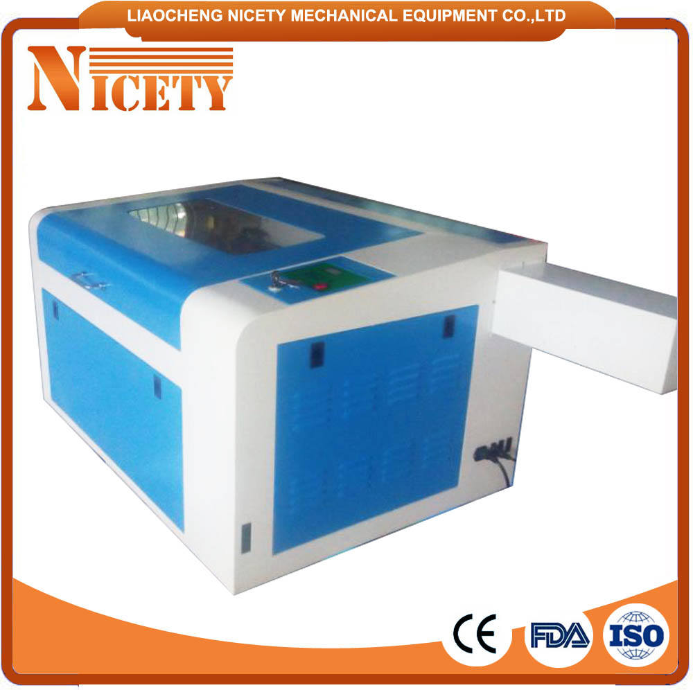 electronic lifting table small desktop 400*600mm wood laser engraving machine with inner linear square guider NT 4060B