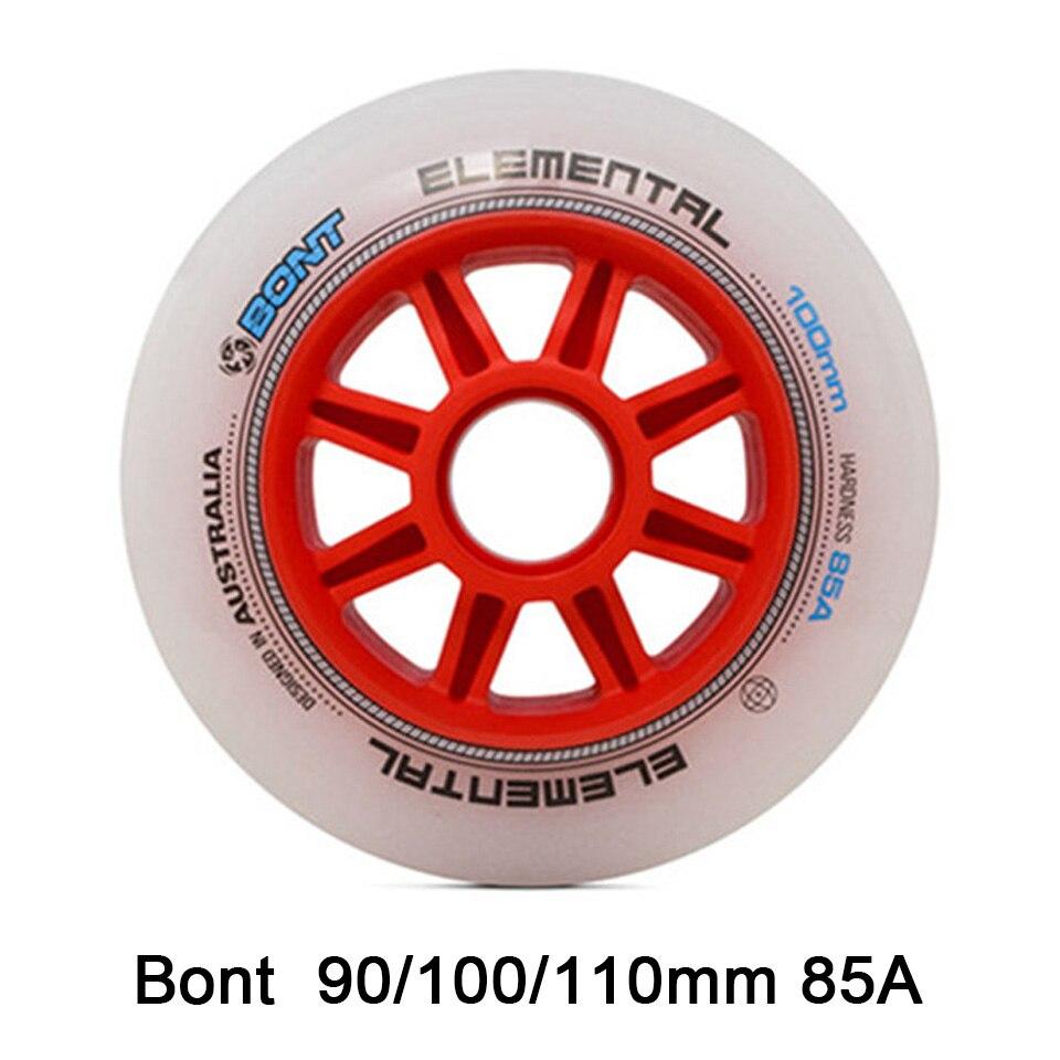 8pcs 100% Original Bont Inline Speed Skates Wheel 90mm 100mm 110mm 85 A Lemental Professional Skating Roller For Adult Kids