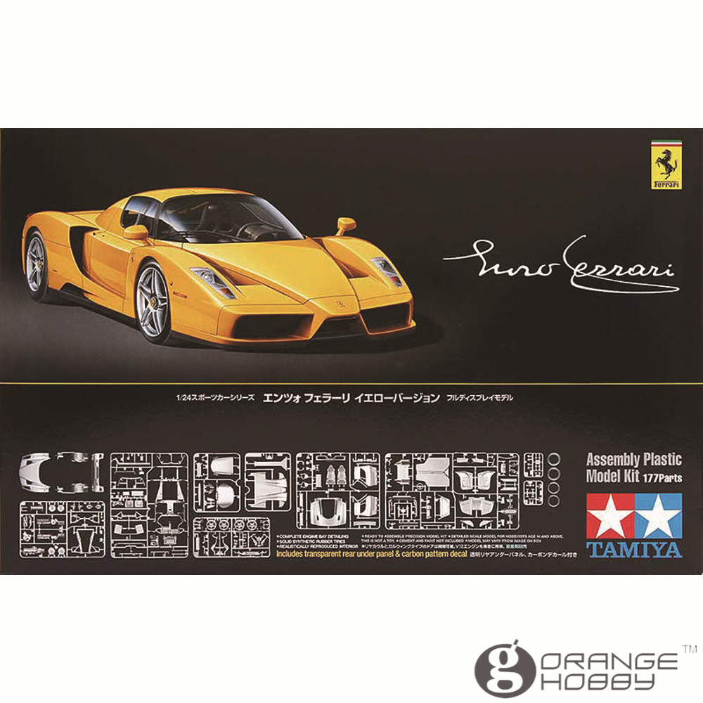 ФОТО OHS Tamiya 24301 1/24 Enzo Yellow Scale Assembly Car Model Building Kits