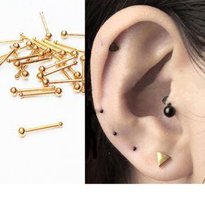 Fashio Men Women Mini Earrings Silver Gold Black Stainless Steel Small Ball Spike Stars Hearts Stud Earrings Piercing Jewelry