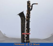 Professional Dragon Engraving Baritone Saxophone Black Nickel sax With Case