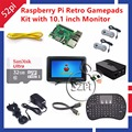 Raspberry Pi 3 Modelo B 32 GB RetroPie Kit Jogo com Gamepad Joystick & 10.1 polegada 1366*768 Display LCD Tela LCD Monitor de