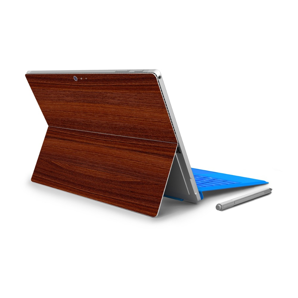 YCSTICKER - For Micro Surface Pro 4 Vinyl Back Full Decal Tablet Netbook Ultrabook Sticker Wood Texture Painting Skin Logo Cut