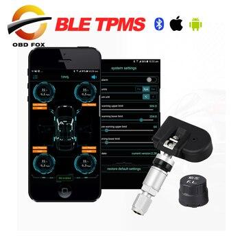 2018 Monitor de presión de neumáticos caliente Bluetooth 4,0 BLE TPMS 4 Sensor interno/externo probador de presión de neumáticos para Android IOS