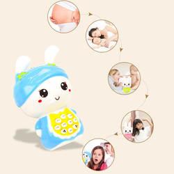 Новый красивый мультипликационный музыкальный телефон детские игрушки обучающая игрушка для раннего развития мобильный телефон для