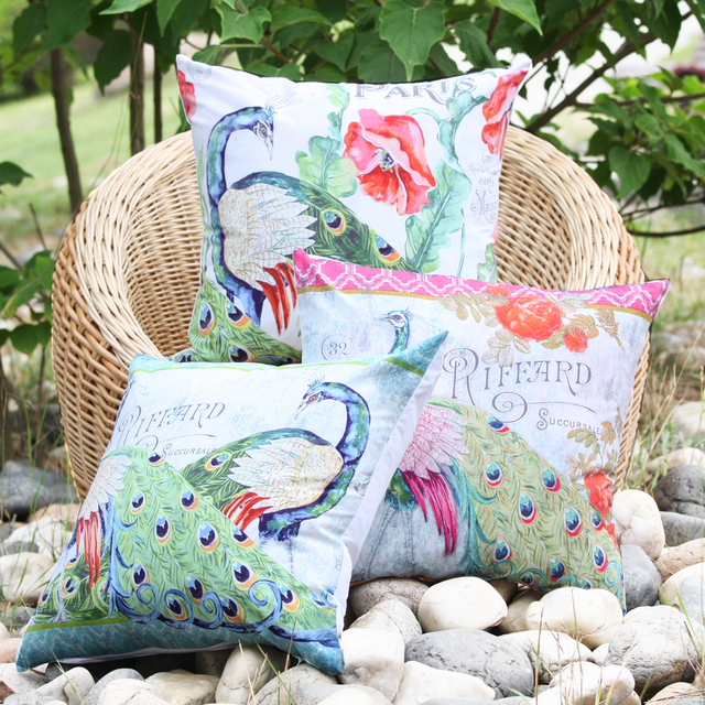 2017 New Arrival Russian Pea Pattern Microfiber Decorative Pillow Cover Throw Cusion