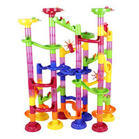 Hot Sale New 105pcs DIY Pipeline Type Marble Race Run Maze Balls Track Puzzles Maze Learning