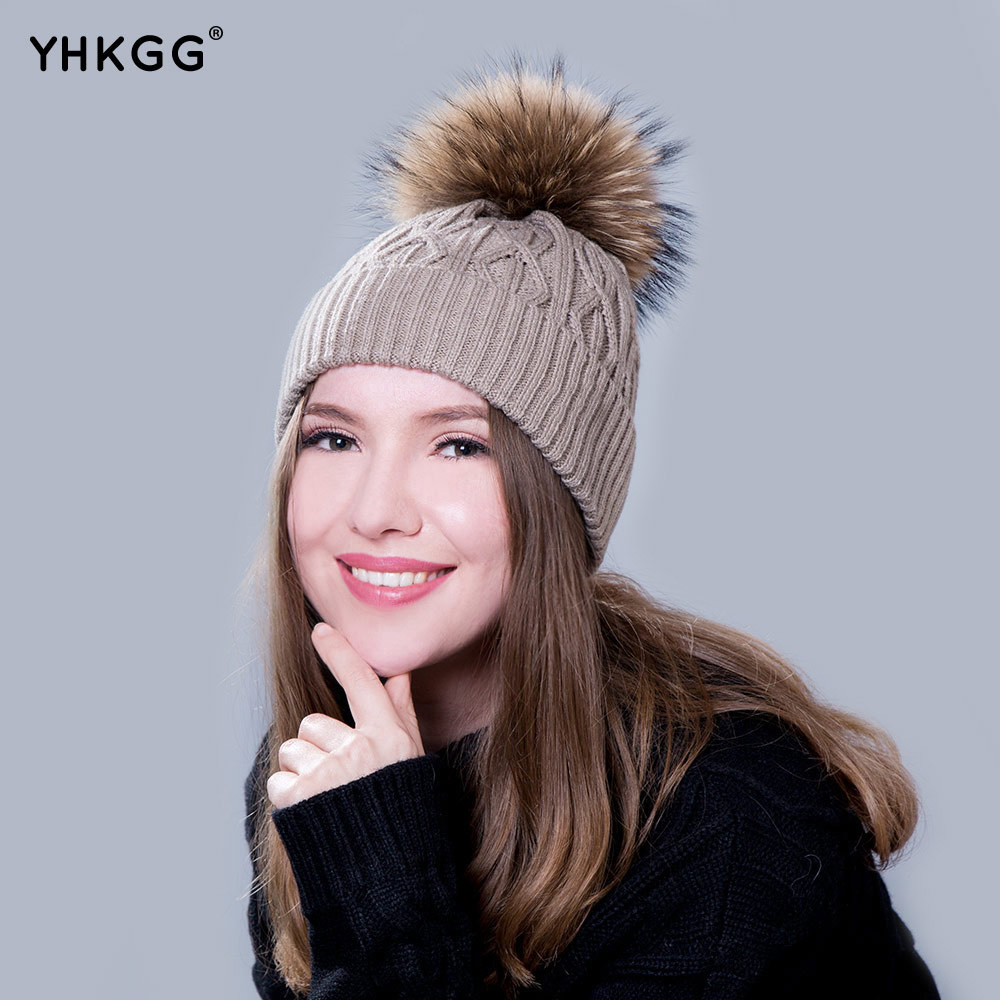 YHKGG  In 2016 The Real Practical Fur Hats During The Winter Hot Young Boys and Girls Pom Fur Fur Hat Pompom corporate real estate management in tanzania