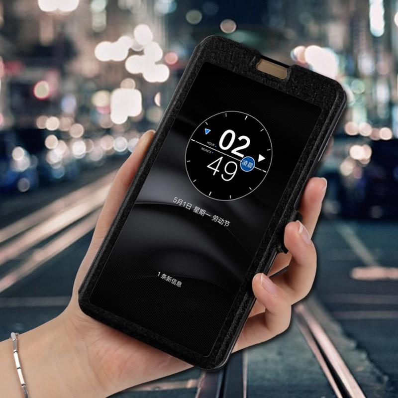 View window phone case for ZTE Nubia M2 Lite NX551J NX573J N1 NX541J NX597J flip stand capa cover for zte N2 NX575J fundas(China)