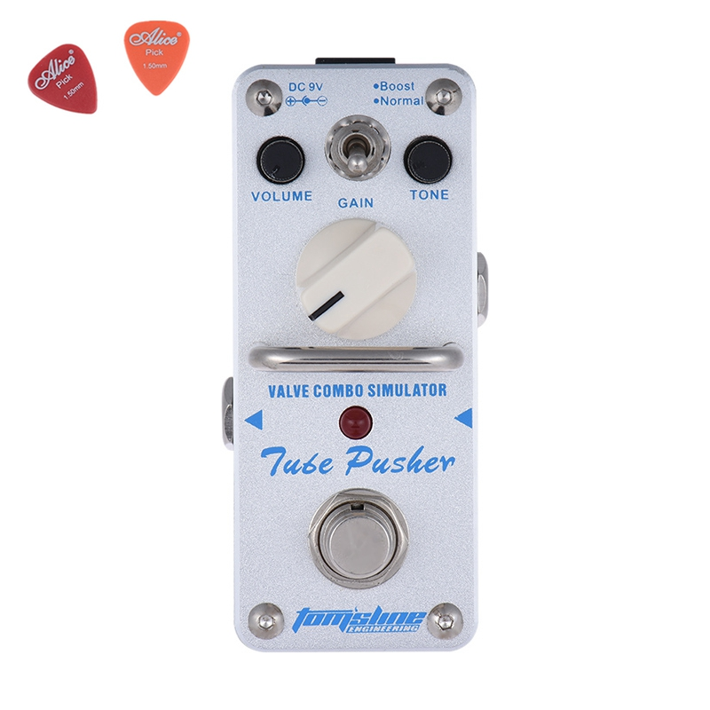 ATP-3 Tube Pusher Valve Combo Simulator Guitar Effect Pedal Aroma Mini Single Pedals  True Bypass Guitar Parts aov 3 ocean verb digital reverb electric guitar effect pedal aroma mini digital pedals with true bypass guitar parts