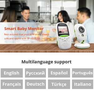 Image 2 - Baby Monitor VB602 Wireless Audio Video Baba Electronic Portable Intercom Babyfoon Camera BeBe Nanny Walkie Talkie Babysitter