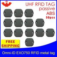 UHF RFID anti metal tag omni ID EXO 750 915m 868m Impinj Monza4QT 50pcs free shipping durable ABS smart card passive RFID tags|passive rfid tag|rfid tag|passive rfid -
