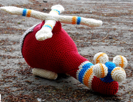 Amigurumi  Helicopter  Rattle Toy