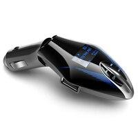 Mp3 плеер мини Новые Прохладный Беспроводной fm-передатчик аудио MP3 плеер Портативный громкой связи car kit Поддержка AUX USB SD MMC ЖК-дисплей dec18