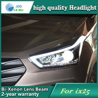 Car Styling Head Lamp Case For Hyundai IX25 Headlights LED Headlight DRL Lens Double Beam Bi
