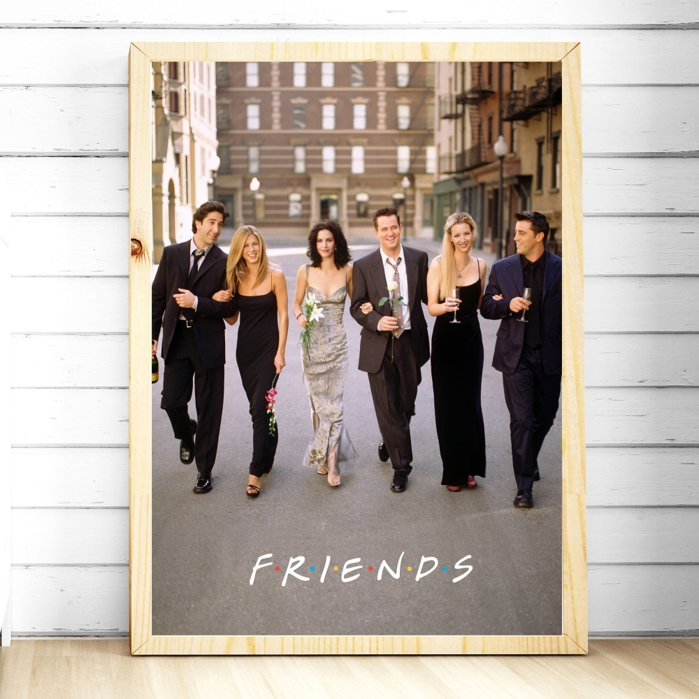 HTB1ObhZXjDuK1Rjy1zjq6zraFXaR Friends TV Show Classic Quote Posters and Prints Wall art Decorative Picture Canvas Painting For Living Room Home Decor Unframed