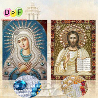 DPF 5d Special Shaped Diamond Embroidery Cross Stitch Religious Diamond Painting Diamond Mosaic Decoration For Gift