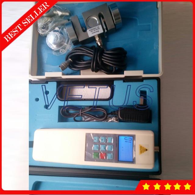 HF-10K Handheld Digital force dynamometer with Digital Force Gauge and digital tension meter 0-10KN RS232 External Sensor