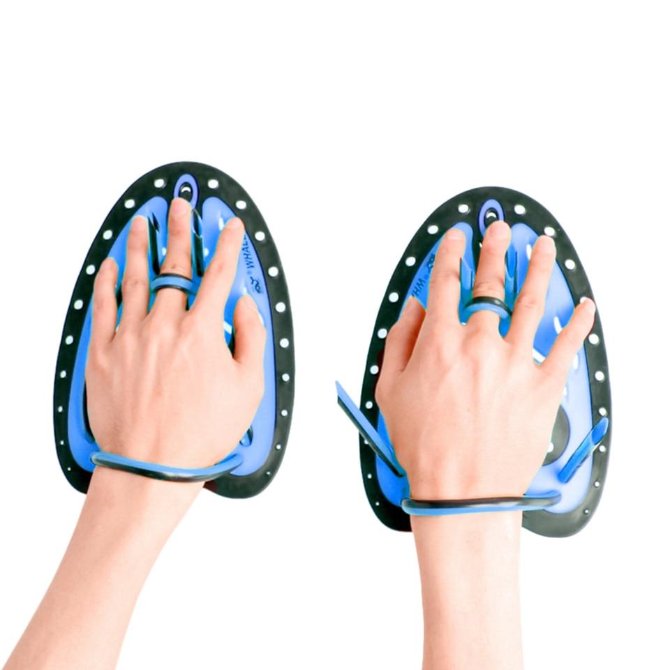 1 Pair Adjustable Swimming Training Hand Gloves Paddles Swimming Training Unisex