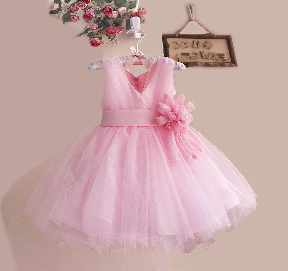 Cute a-line flor Niñas Vestidos para el banquete de boda tulle ...
