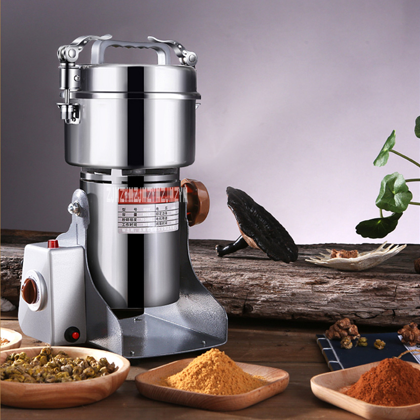 New 800Y Food Mill Powder Machine Ultrafine Household Small Dry Grinding Grain Chinese Herbal Medicine Grinder 220V 550W 800G