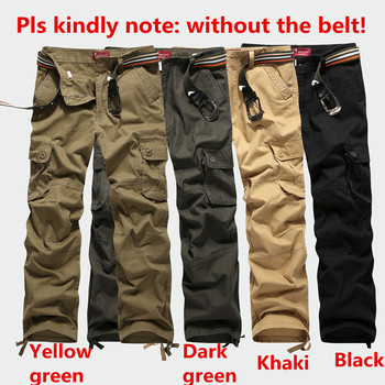 30-44 Plus size High Quality Men's Cargo Pants Casual Mens Pant Multi Pocket Military Tactical Long Full Length Trousers 6