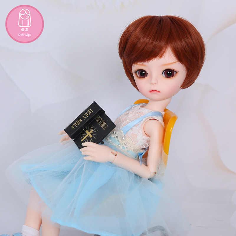 Парик для куклы BJD Бесплатная доставка парик 7-8 дюймов 1/4 высокотемпературный парик для мальчика короткие волосы кукла с челкой модный тип стильные волосы