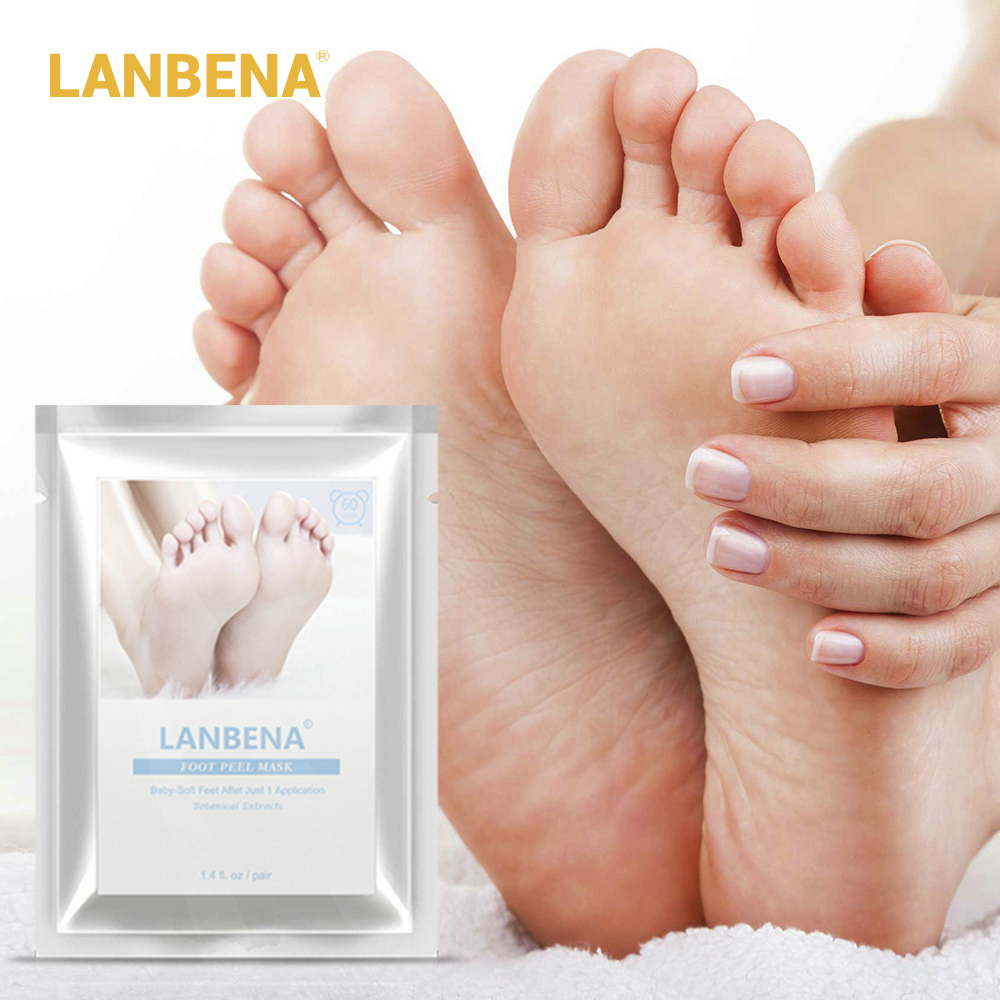 LANBENA Exfoliating Foot Peel Mask Only Need One Pair Remove Dead Skin Thoroughly in 2-7 Days Foot Mask Peeling Cuticles HeelLANBENA Exfoliating Foot Peel Mask Only Need One Pair Remove Dead Skin Thoroughly in 2-7 Days Foot Mask Peeling Cuticles Heel
