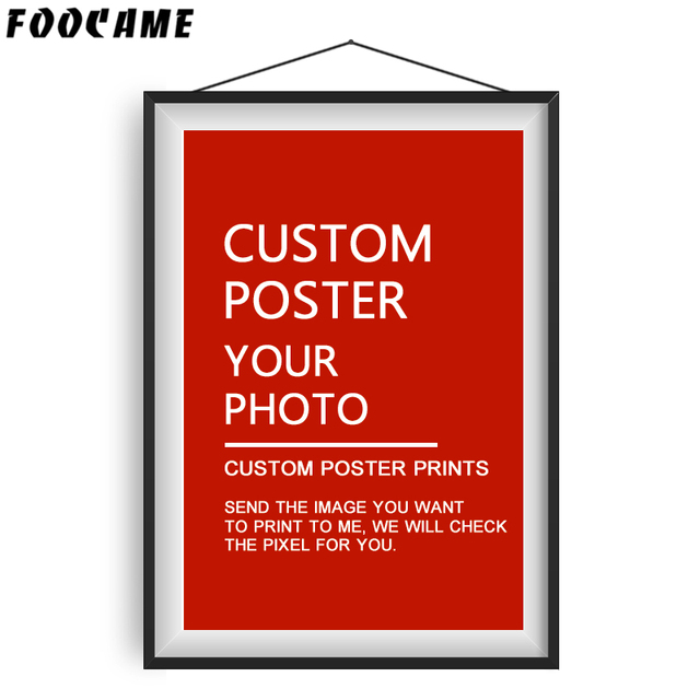 FOOCAME Custom Silk Posters and Prints Customized Decorative Wall Picture Anime Movie Landscape Nordic Painting Your Photo Decor
