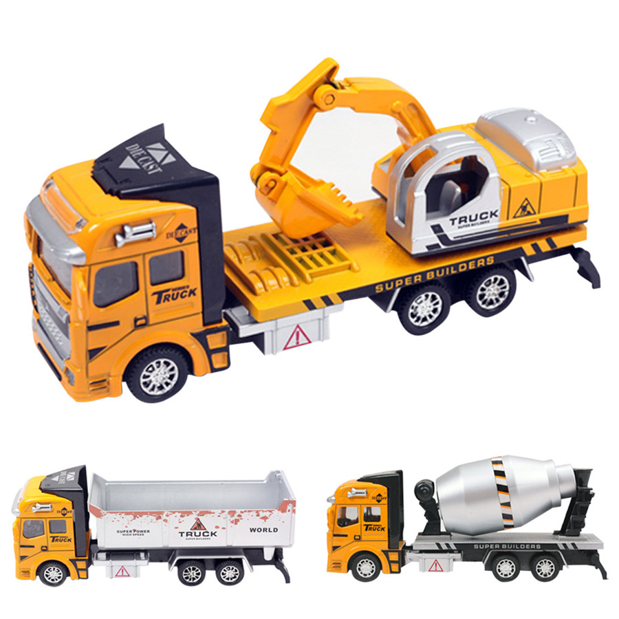 DIY Mini Pull Again Development Automobile Toy Yellow truck Youngsters Present Free transport