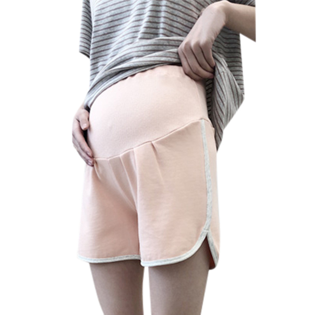 SAGACE Short Pregnant-Casual Solid for Women Female High-Waist Running Summer title=