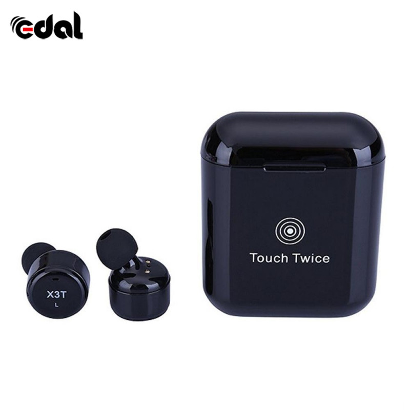 TWS X3T Mini Wireless Bluetooth 4.2 Headset Earphone wtih Charger Box Bass for Android IOS leegoal mini earphone headset car charger 2 in 1 driver wireless bluetooth earphone for apple smart phone ios android